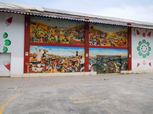 Historical mural of Via El Slavador